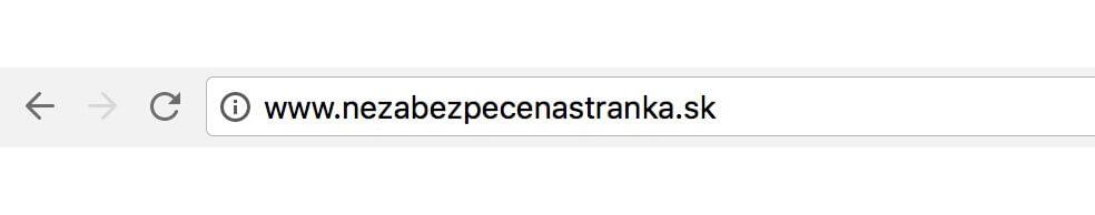 Nezabezpecena webova adresa