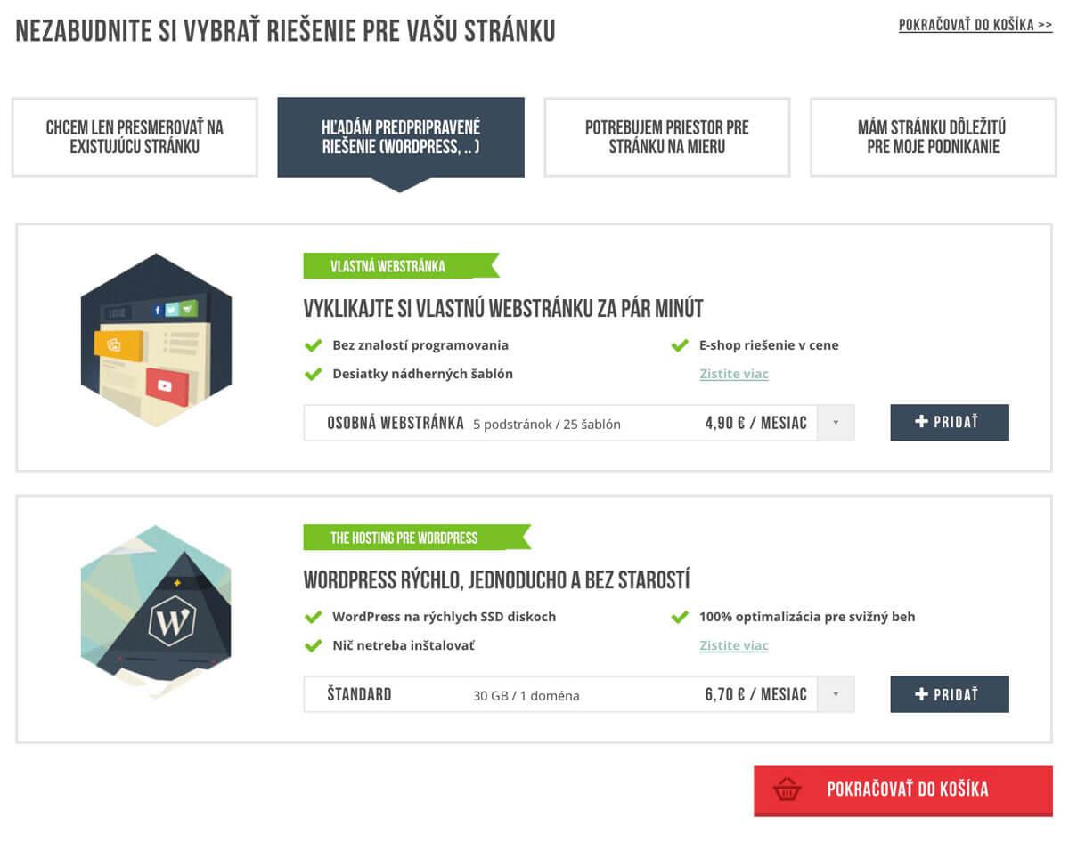 vyber hostingu od websupportu